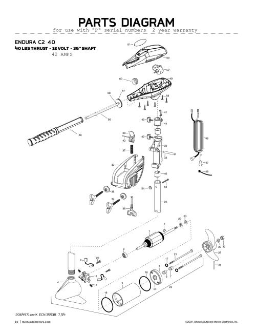 small resolution of minn kota endura c2 40 parts 2015 from fish307 com parts diagram minn kota endura 30 trolling motor minn kota endura 30
