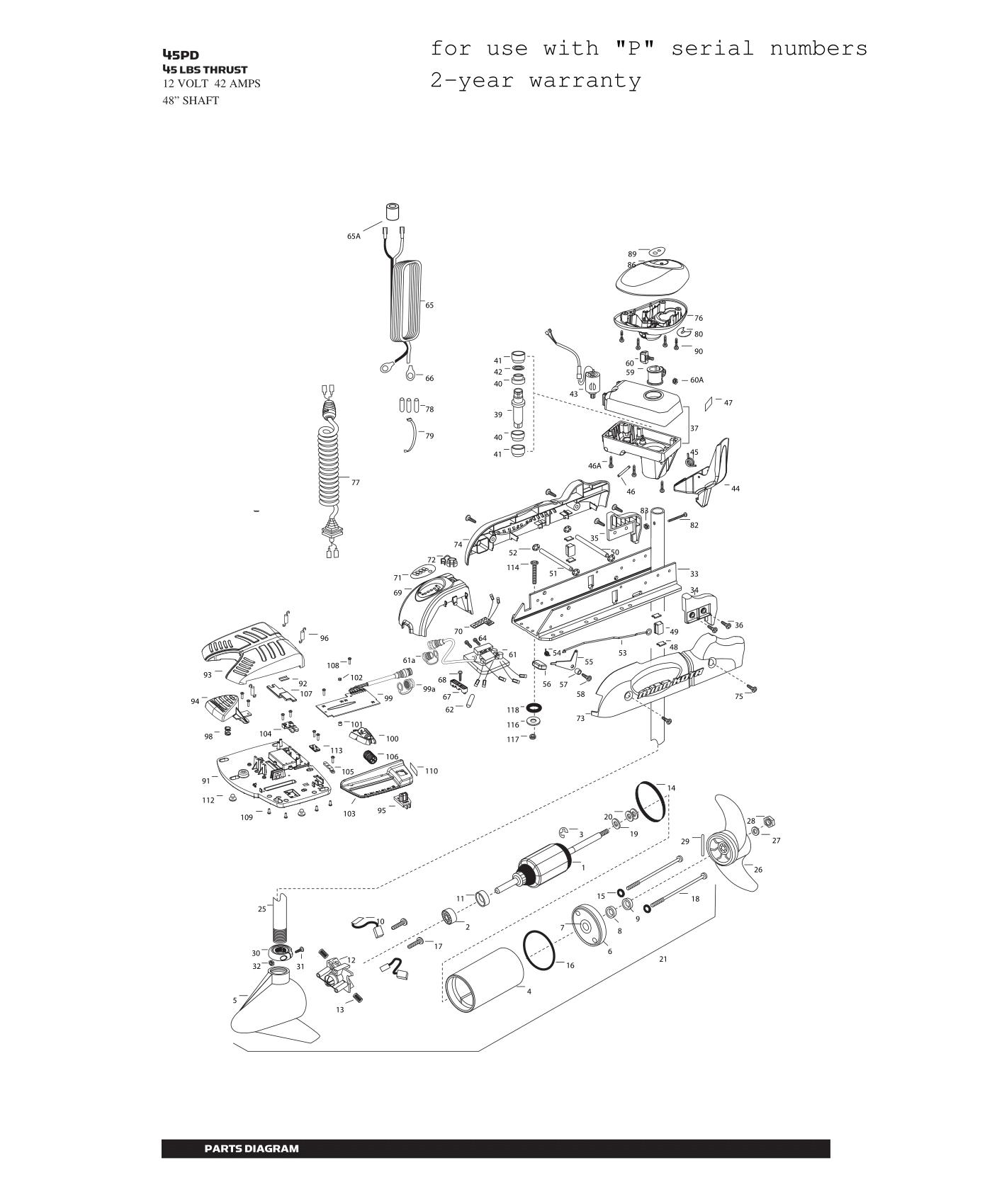 Minn Kota Powerdrive V2 45 Parts