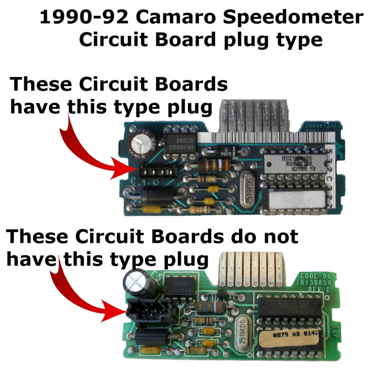 hight resolution of  1990 91 92 chevy camaro sdometer circuit board plug type 1 1990 chevy firewall wiring diagram wiring diagram expert on 2005 club cars