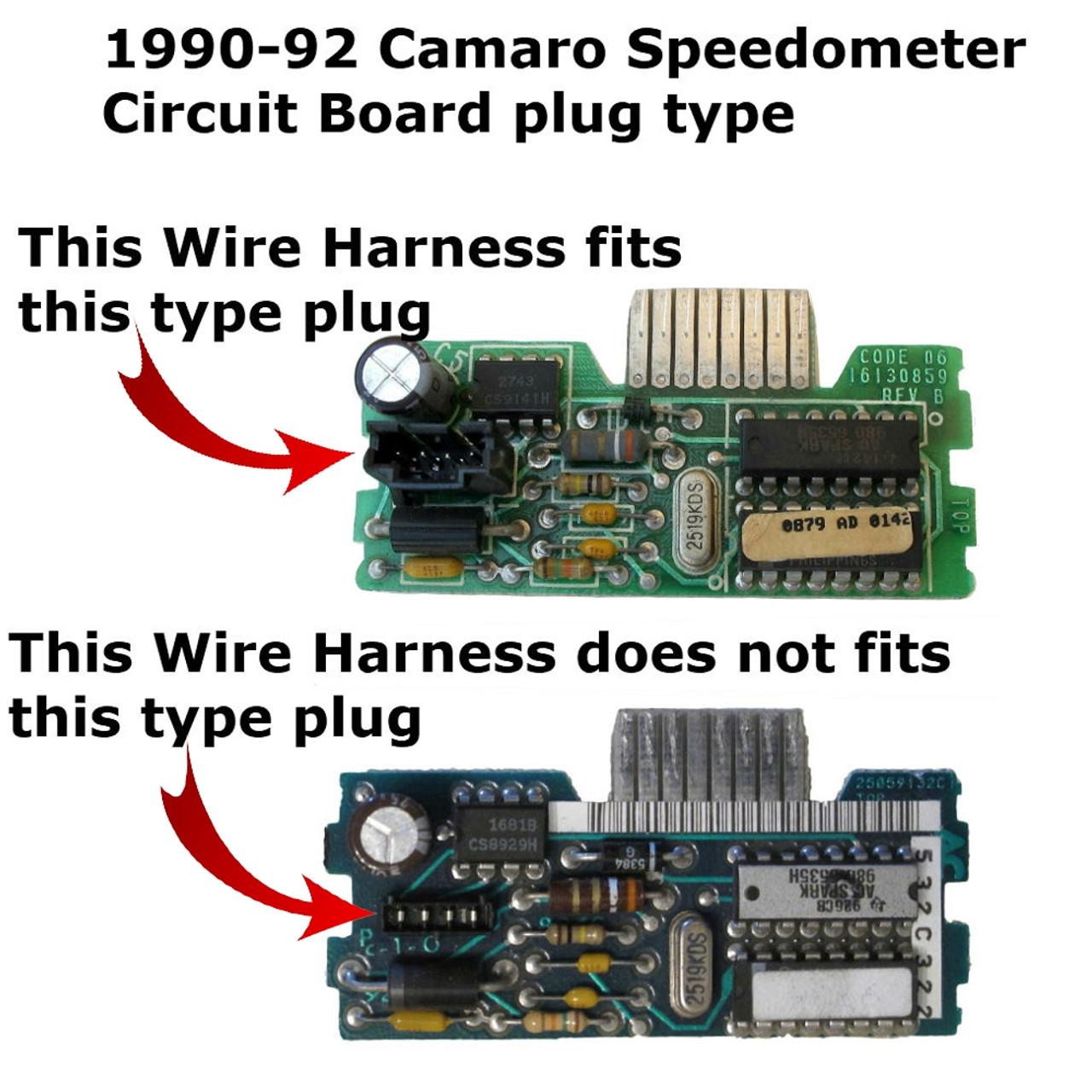 medium resolution of 1990 92 chevy camaro speedometer wire harness plug type 2 1990 92 chevy camaro speedometer