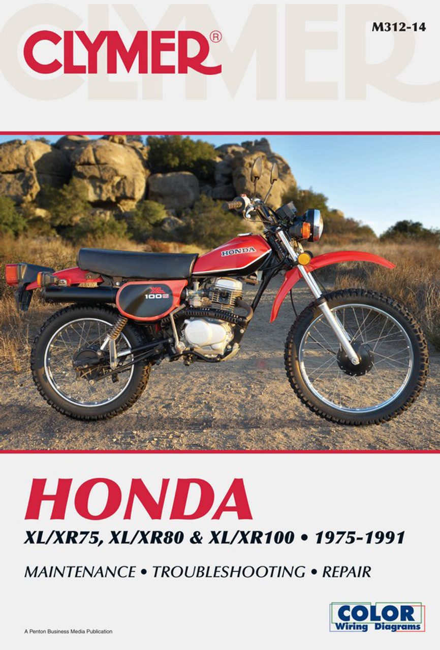 medium resolution of honda xl xr75 xl xr80 xl xr100 1975 1991 clymer manual manual