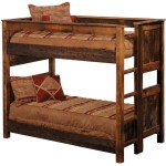 Rustic Reclaimed Wood Bunk Beds Barnwood