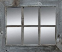 Rustic Window Pane Mirror | Rustic Barnwood Mirror ...