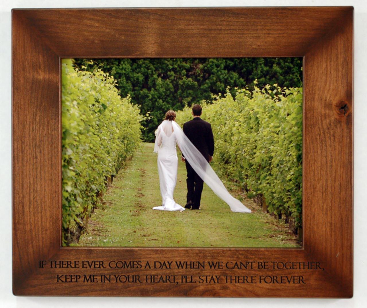 8x10 engraved wood frame