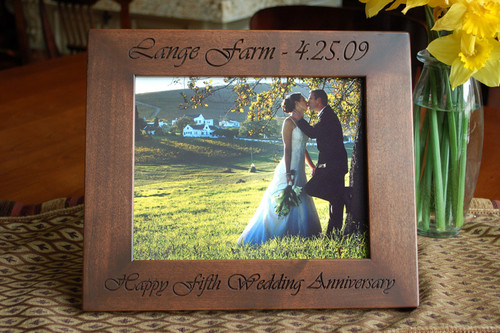 8x10 engraved wood personalized