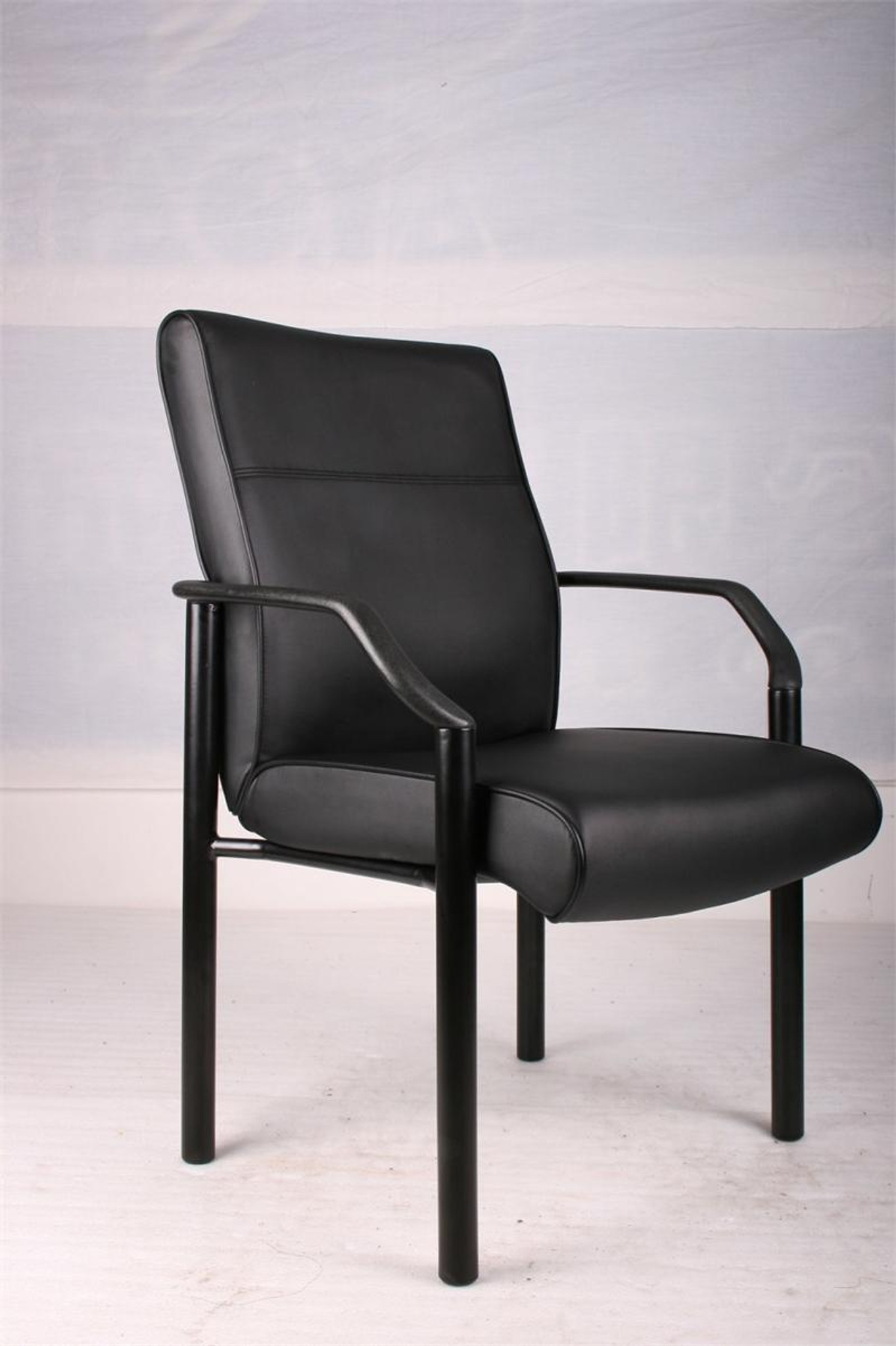 office side chair amazon com chairs boss products metal 4 legs in leather plus