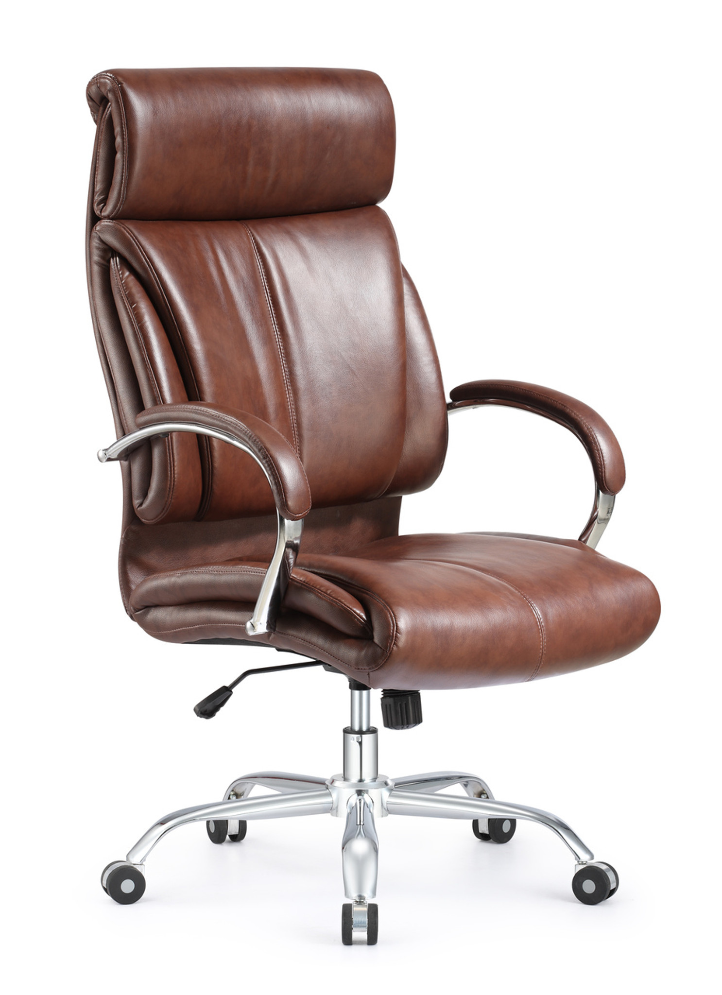 Executive Leather Chair Ergonomic Style And Vintage High Back Leather Office Chair Brown Leather Chair
