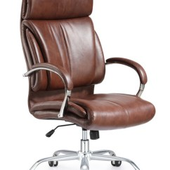 Brown Leather Computer Chair Wheelchair Usa Ergonomic Style And Vintage High Back Office - Orlando ...