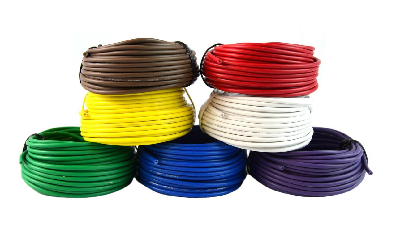 hight resolution of 18 gauge trailer light cable wiring harness 25 feet each 7 rolls 175 feet total