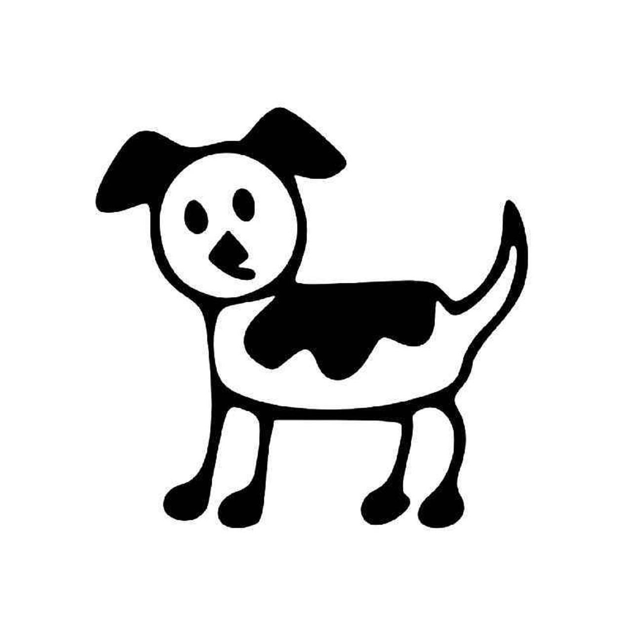 Dog Stick Figure 4 Vinyl Sticker