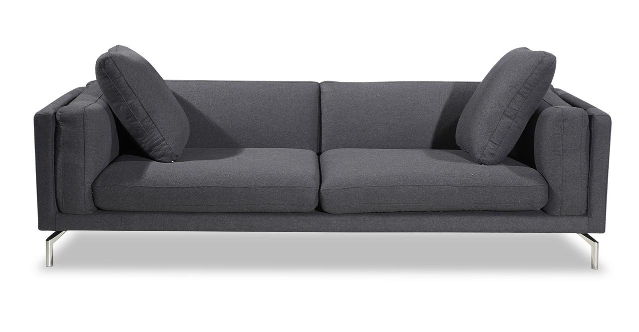 loft charcoal sofa bed small faux leather corner basil kardiel
