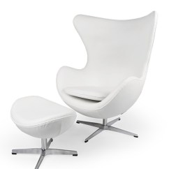 Office Chair With Ottoman Geri Rental Amoeba Ecume White Premium Leather Kardiel