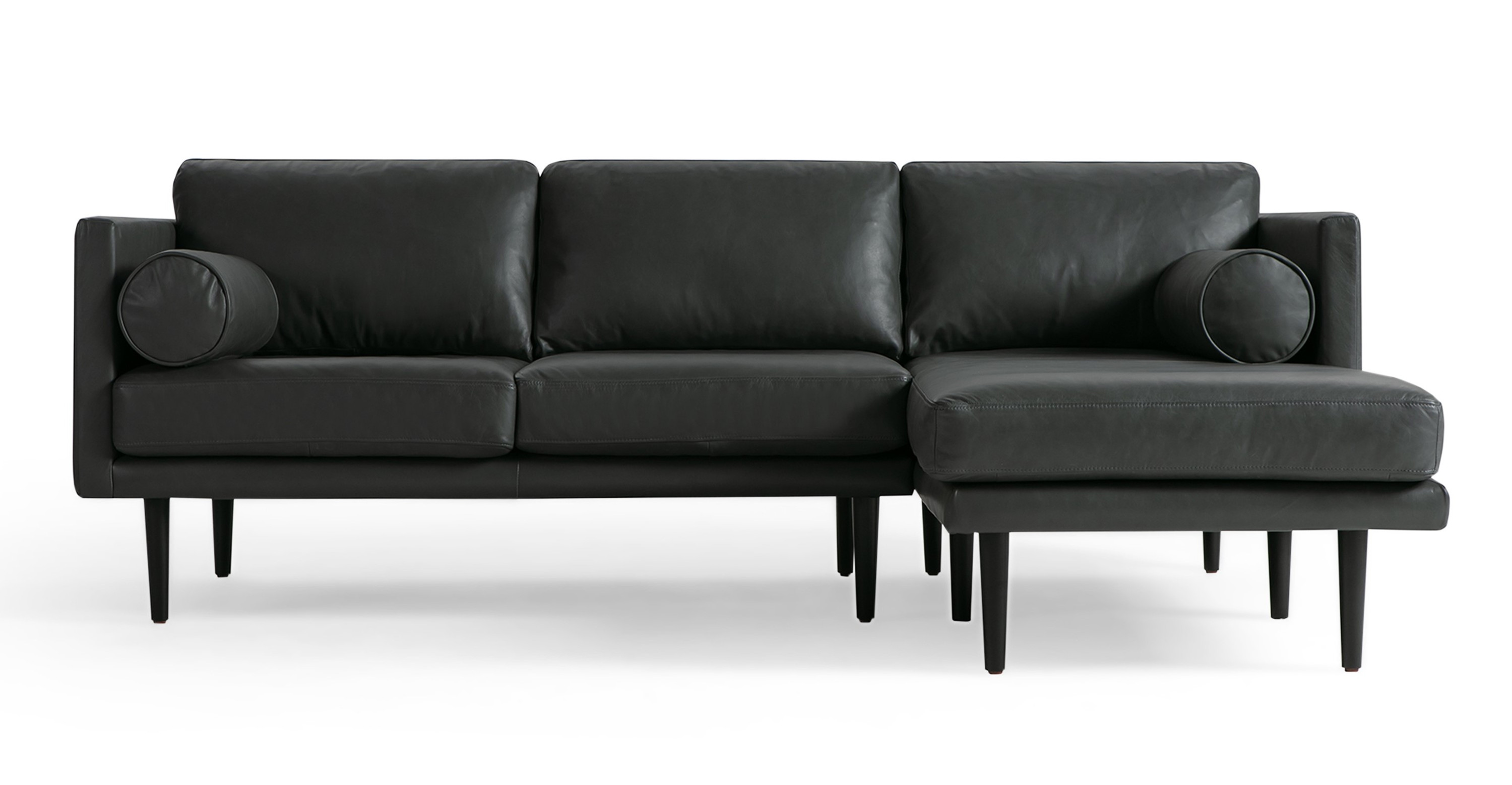 spectre 81 leather sofa sectional right napoli grey