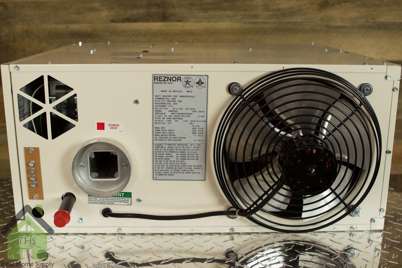 medium resolution of reznor 75000 btu v3 power vented gas fired heater udap75 cozy console furnaces natural gas reznor gas furnace wiring