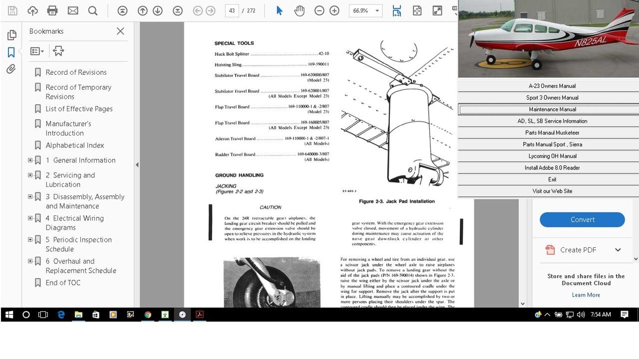 hight resolution of beechcraft raytheon shop manual sierra sundowner musketeer sport download