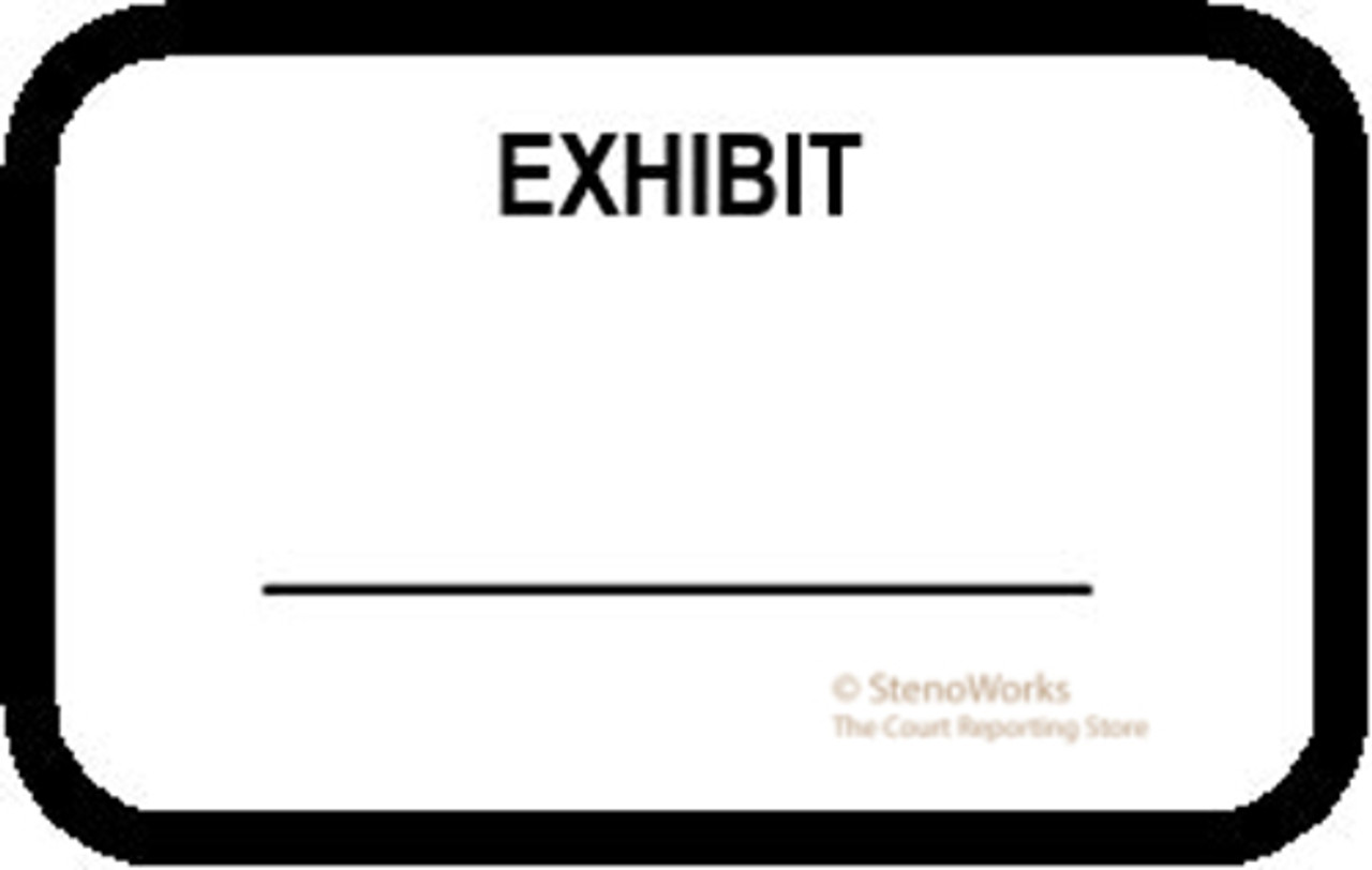 exhibit labels stickers white