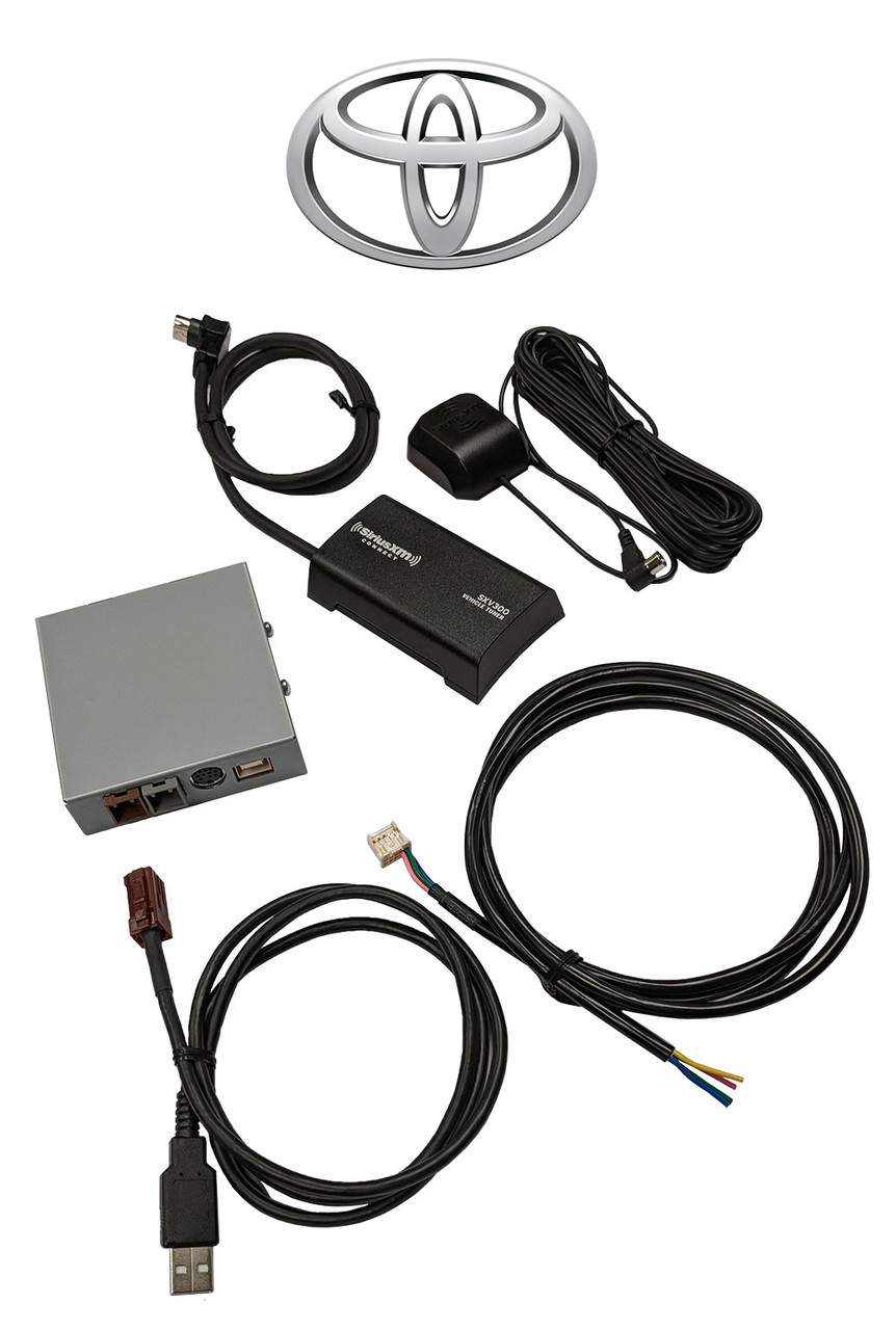 hight resolution of toyota sirius xm radio tuner and oem factory installed stereo kit