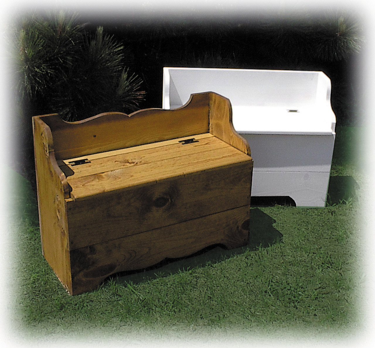 This wonderful bench has been hand crafted from barn board and finished in a weathered driftwood the sleek lines of this black wood bench start the casual or traditional decor of your home, while the solid print seating is a comfortable place to rest. toy bench small size