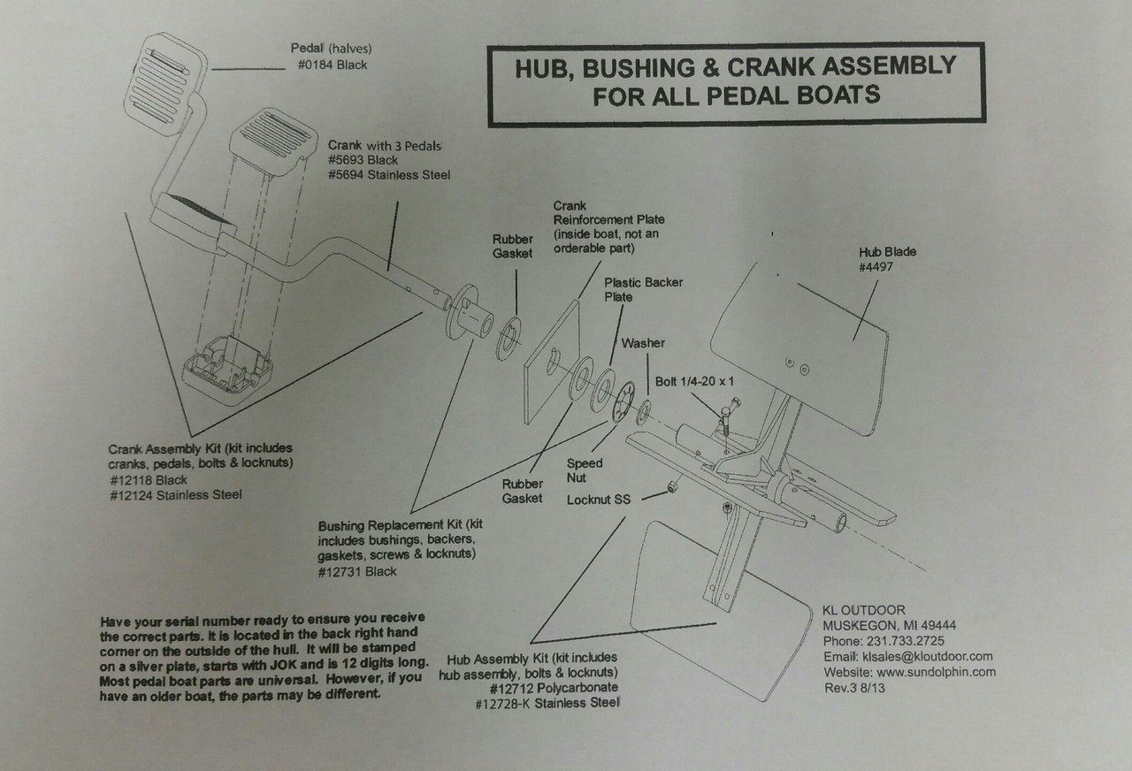 hight resolution of sundolphin pedalboat schematic rudder and steering parts list
