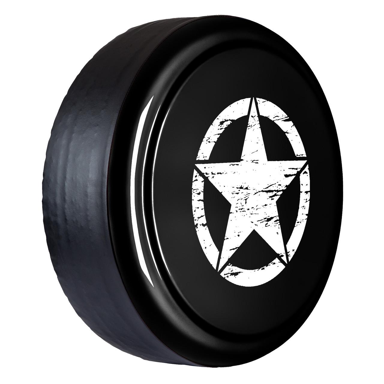 medium resolution of distressed star rigid tire cover black textured jeep wrangler jk