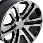 20 2015 Ck158 Chevy 1500 Gmc Yukon Sierra Cadillac Machine Black Wheels Set Of 4 20x9 Rims Stock Wheel Solutions