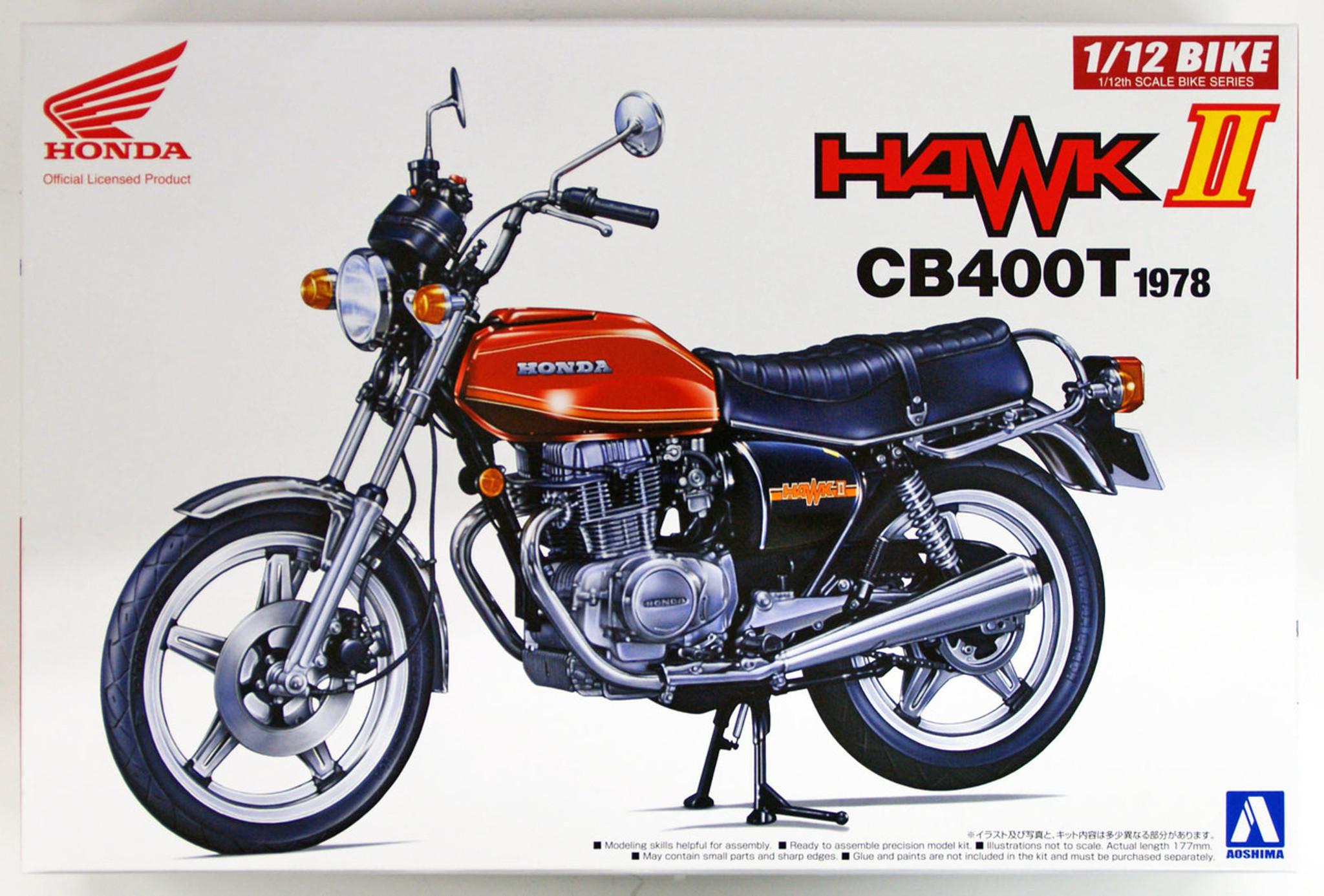 aoshima 53966 bike 42 honda hawk ii cb400t 1 12 scale kit  [ 1280 x 866 Pixel ]