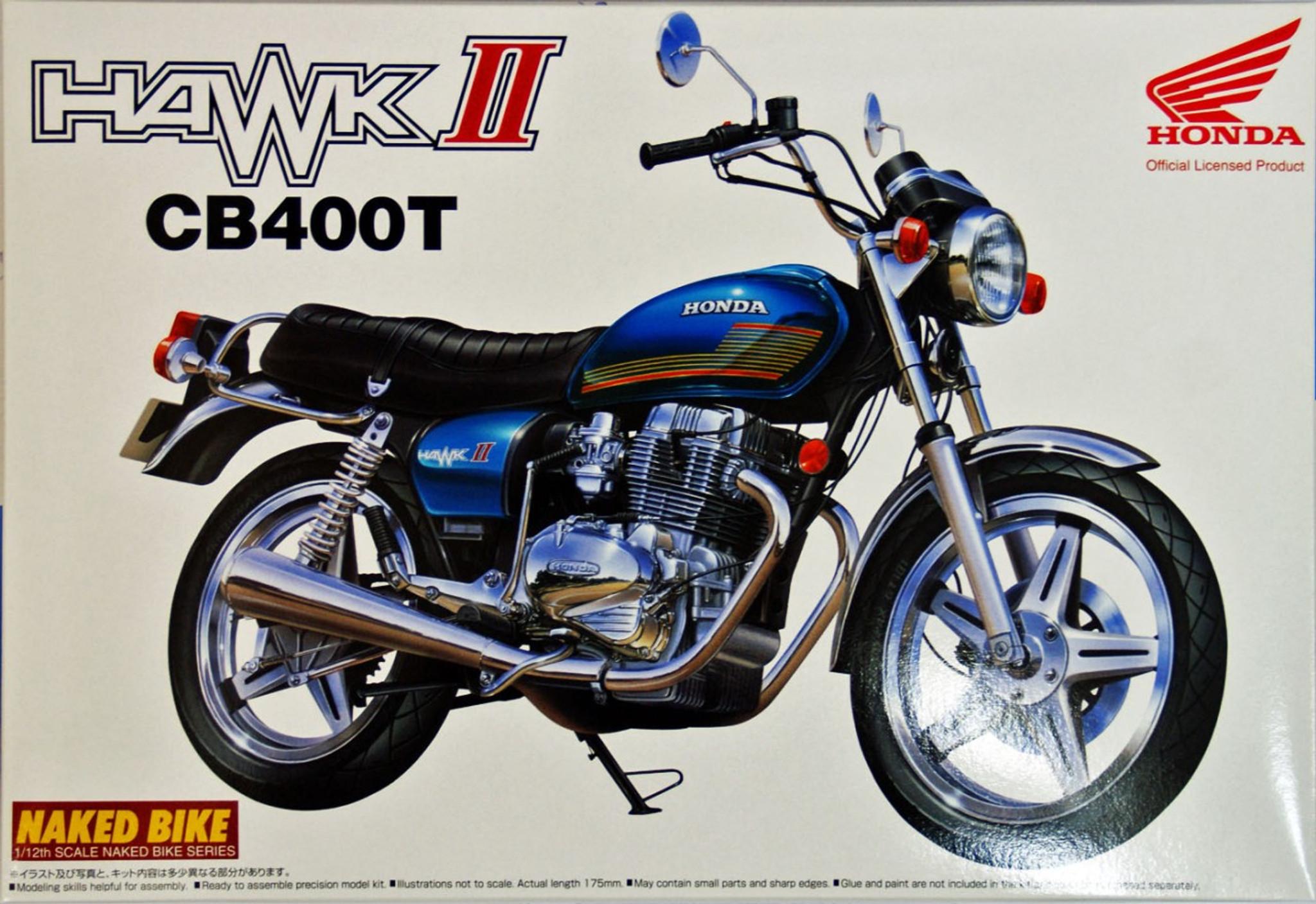 medium resolution of aoshima naked bike 66 47002 honda hawk ii cb400t 1 12 scale kit plaza japan
