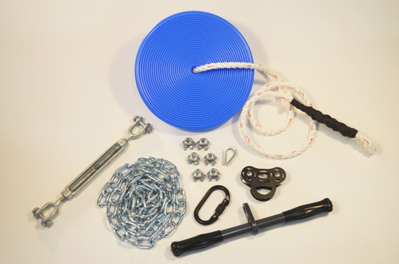Basic Zip Line Kit With Seat Buyswings Com