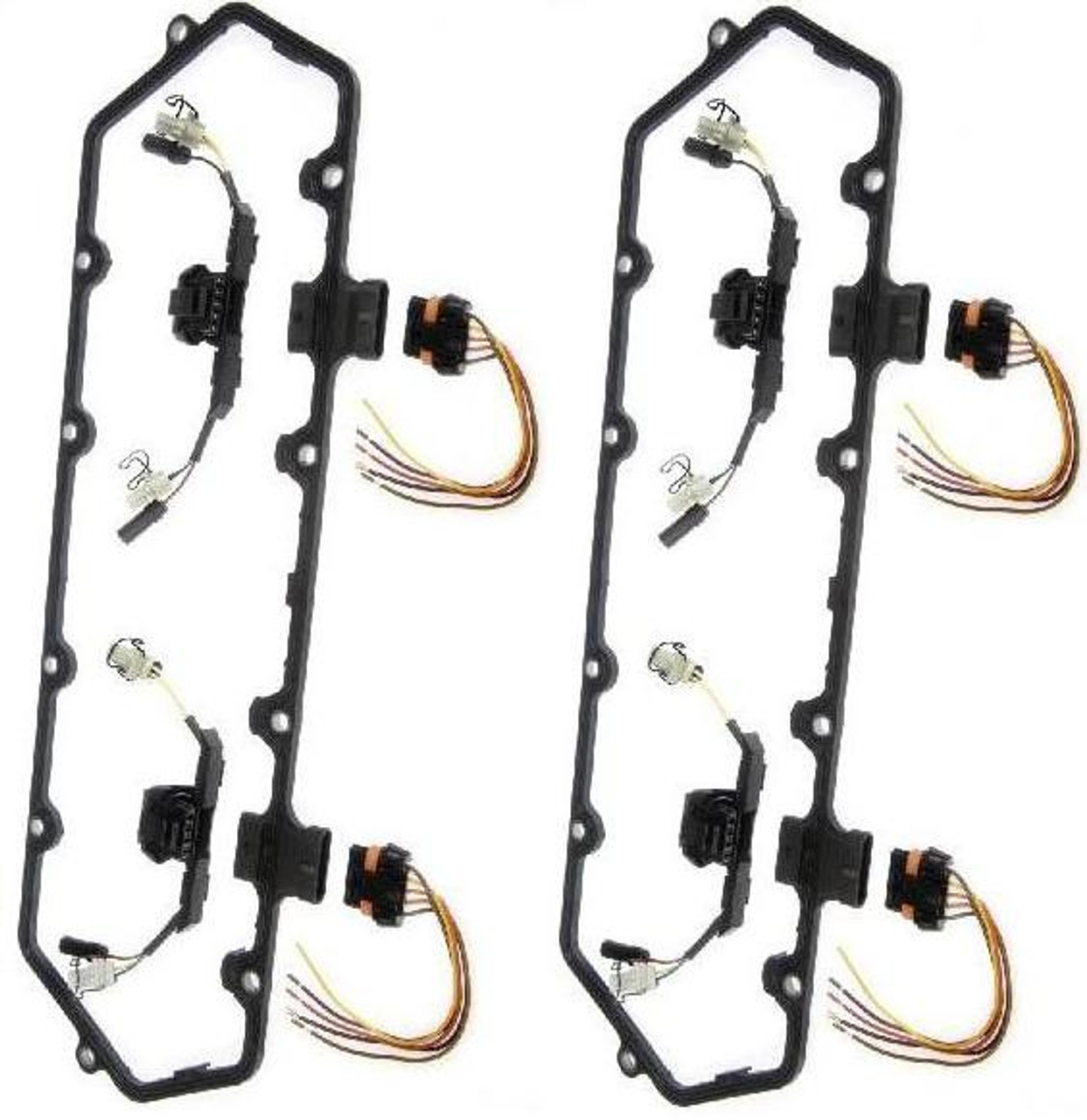 dorman 94 97 dual valve cover gasket kit w fuel injector wiring harnesses 7 3 [ 1243 x 1280 Pixel ]