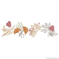 border leaves leaf autumn embroidery designs pattern machine stencil