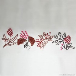 embroidery border designs borders leaf leaves autumn machine plant patterns pattern choose options compare
