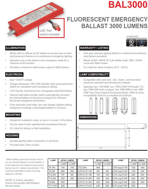 Bal1400 Emergency Ballast Wiring Diagram