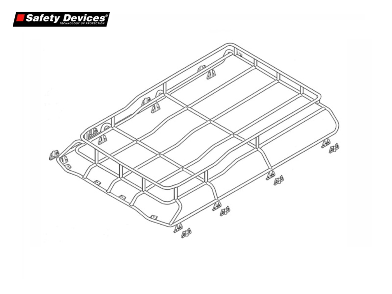 safety devices highlander roof rack for discovery 2 da4732