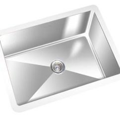 Square Kitchen Sink Stand Alone Cabinet Single Bowl 22 X 14 York Taps
