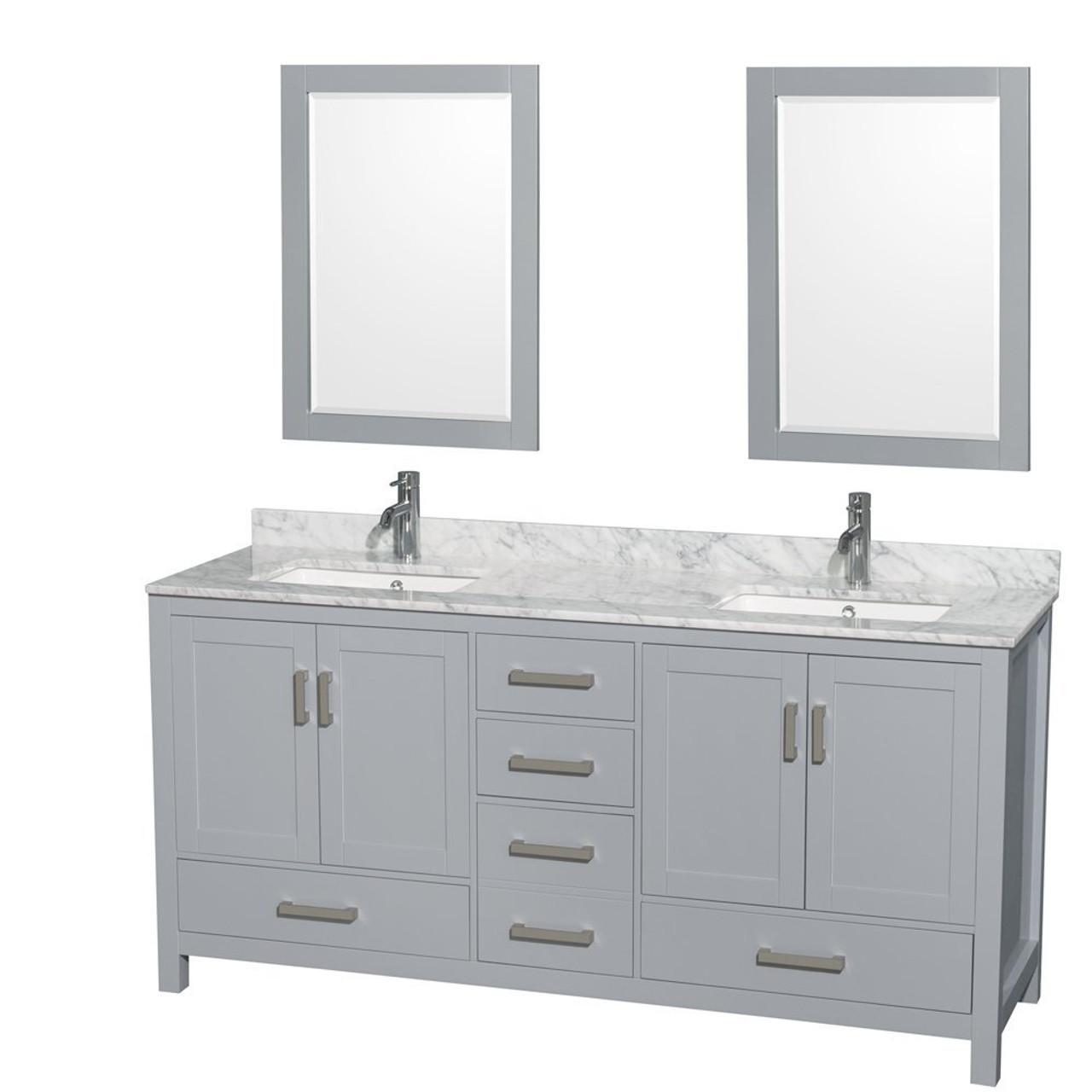 armada 72 double sink bathroom vanity light grey