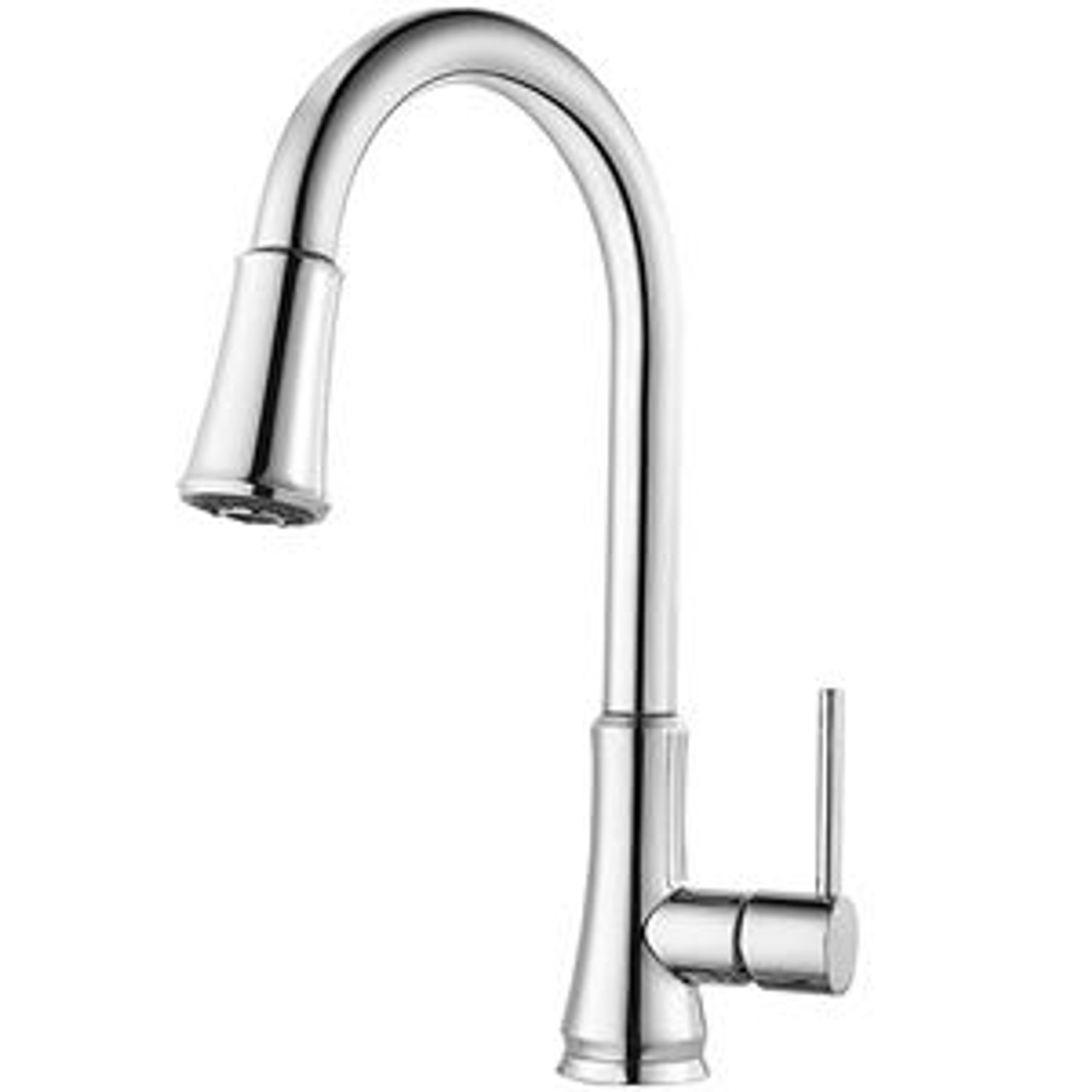pfister g529 pf1s pfirst metal 1 lever handle pulldown spray kitchen faucet stainless steel