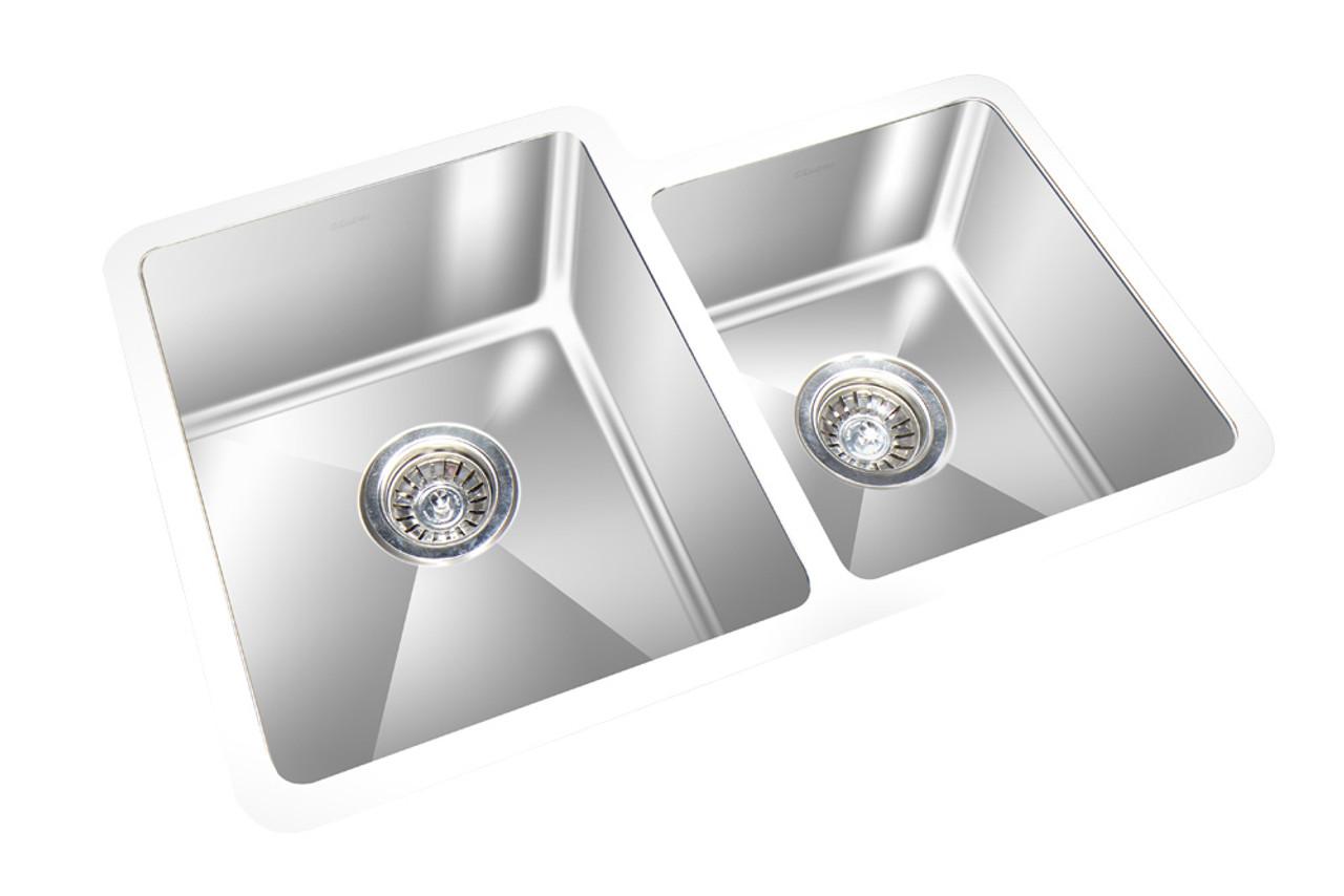 gem double kitchen round corner sink undermount 27 x 20