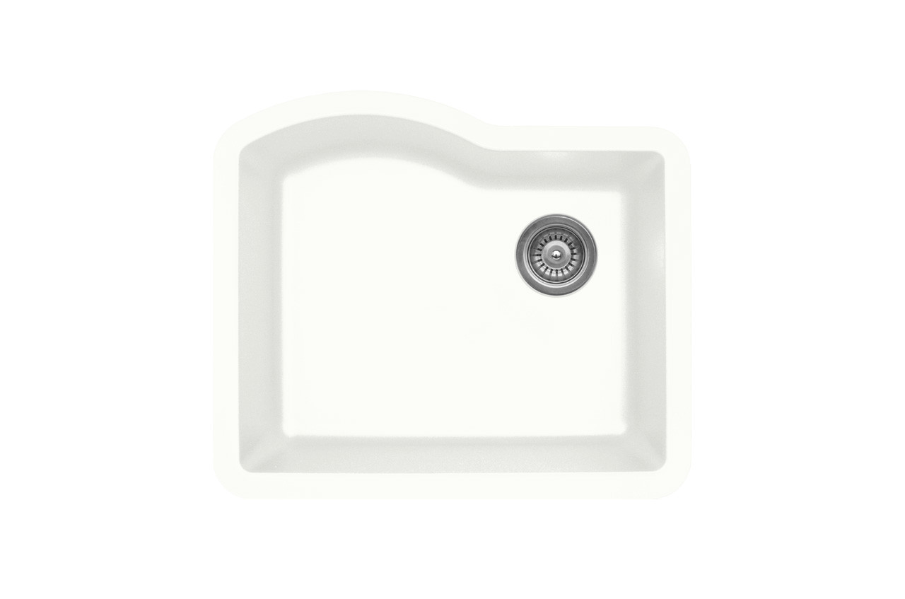 kitchen sink white design program karren single bowl undermount finish 24 x 21 qu