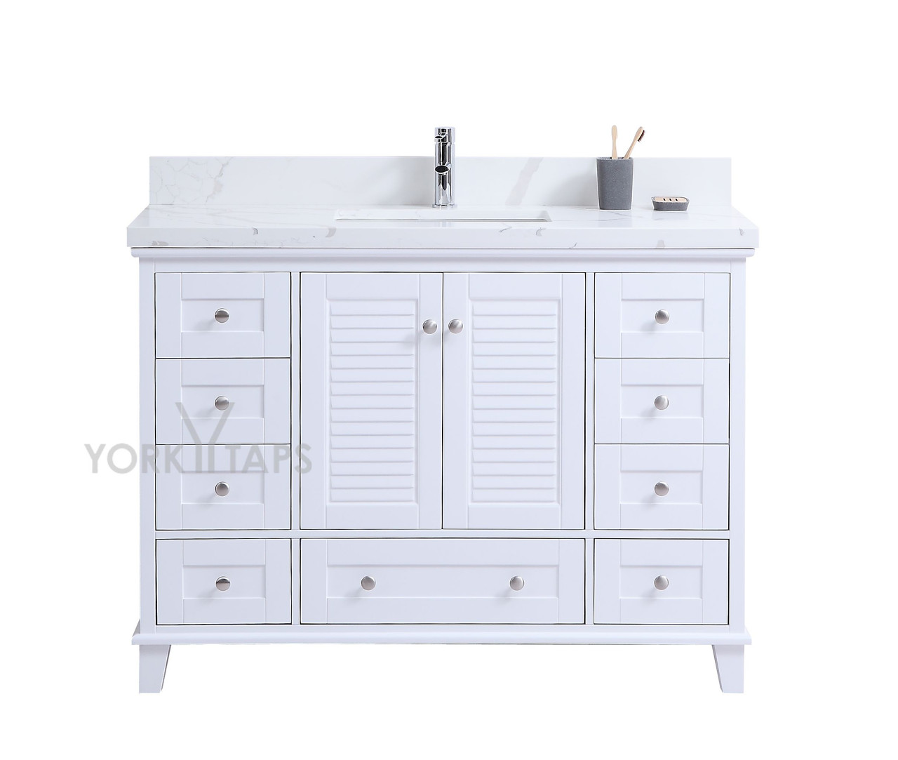 woodbridge 48 bathroom vanity white