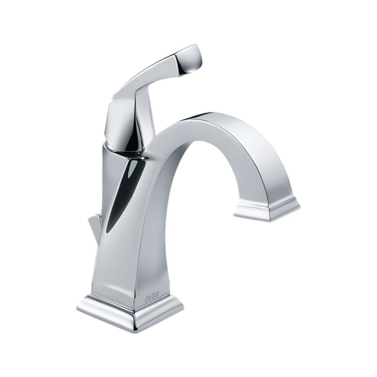 delta dryden single handle centerset lavatory faucet