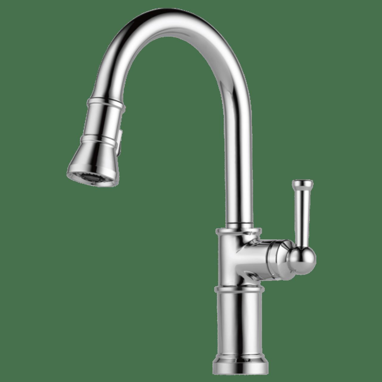 brizo artesso single handle pull down kitchen faucet