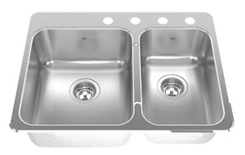 ss kitchen sinks walnut cabinets kindred undermount stainless sink kcuc36r 9 10bg york taps