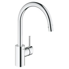 Kitchen Taps Sink Base Cabinet With Drawers Grohe Concetto Single Handle Faucet Dual Spray Pull Down Chrome