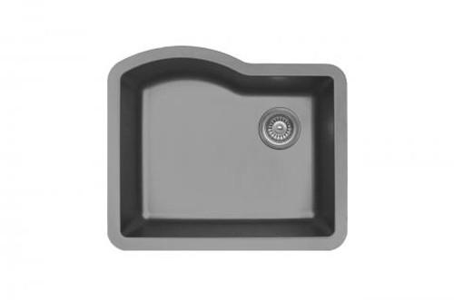 24 kitchen sink shears karren single bowl undermount grey finish x 21 qu