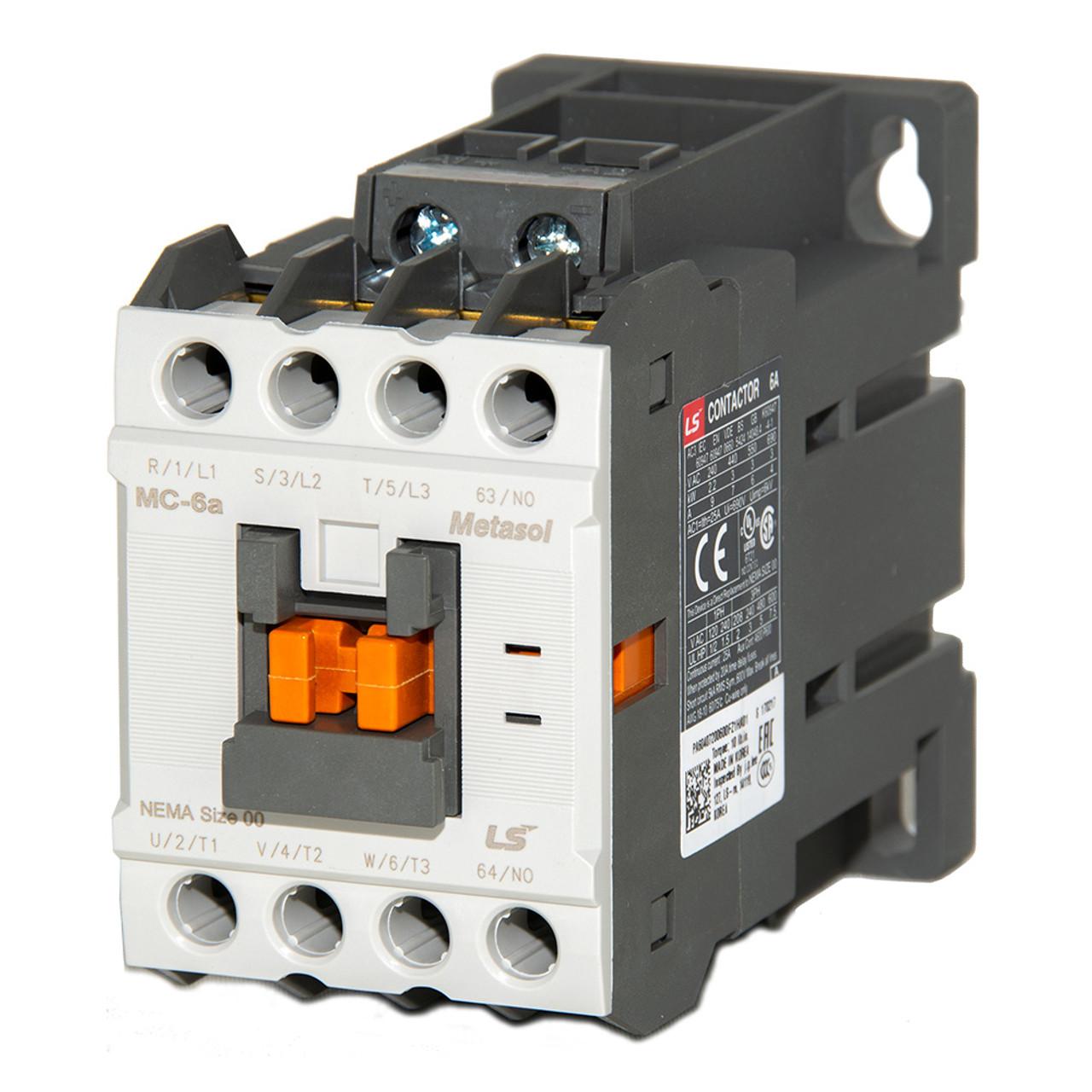 lsis mc 6a metasol series magnetic contactor dc12v screw 1a  [ 1000 x 1000 Pixel ]