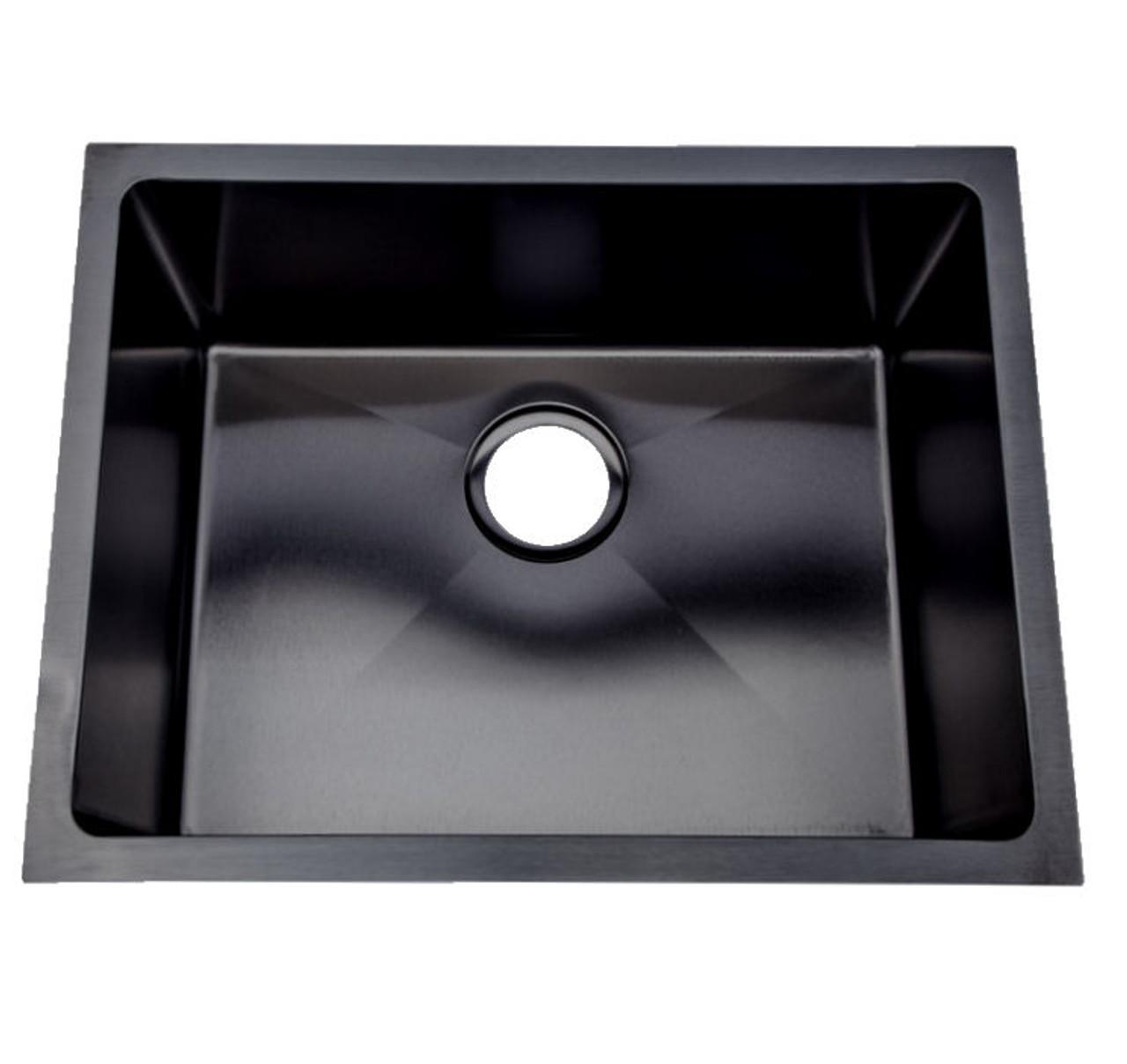 normandy matte black gunmetal cube signle sink undermount or drop in 400