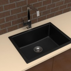 Under Mount Kitchen Sink Make Over Carysil Granite Drop In Or Single Bowl 610x457
