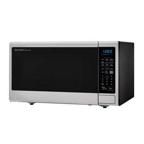https shop sharpusa com 1 8 cu ft 1100w sharp stainless steel countertop microwave oven with black mirror door smc1843cm