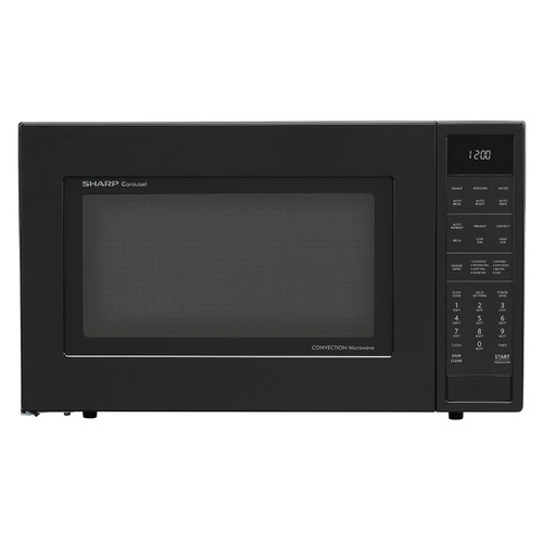 1 5 cu ft 900w sharp matte black carousel convection microwave oven smc1585bb