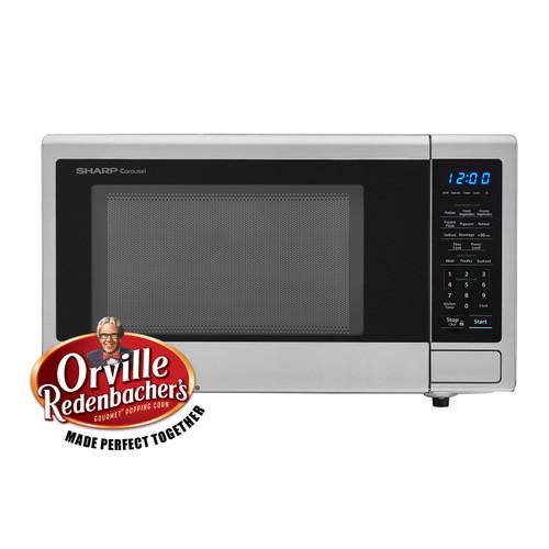 1 1 cu ft 1000w sharp stainless steel carousel countertop microwave oven zsmc1132cs